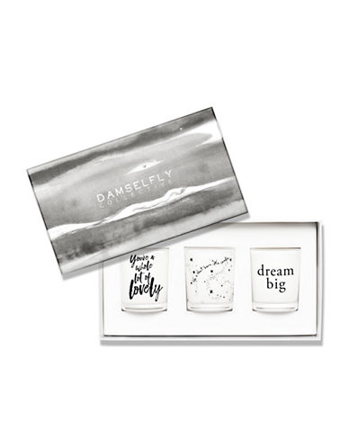 Damselfly Dream Big Candle Gift Pack-WHITE-Small