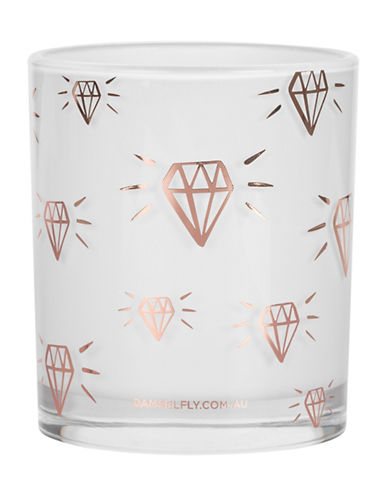 Damselfly Diamonds Candle-ROSE GOLD-Large
