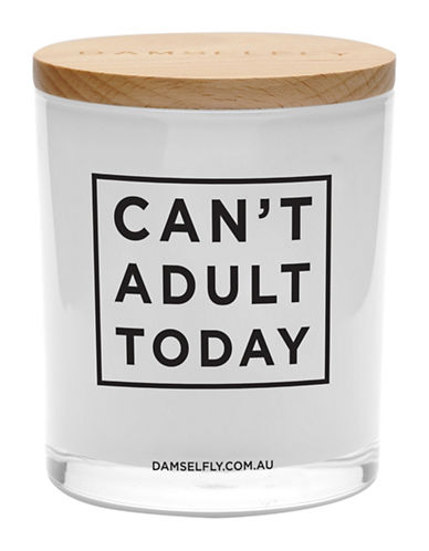 Damselfly Cant Adult Today Candle-WHITE-Large