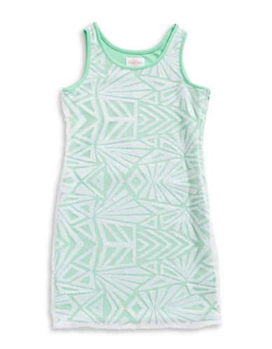 4ever Free Sleeveless Geo Sequined Dress-GREEN-12