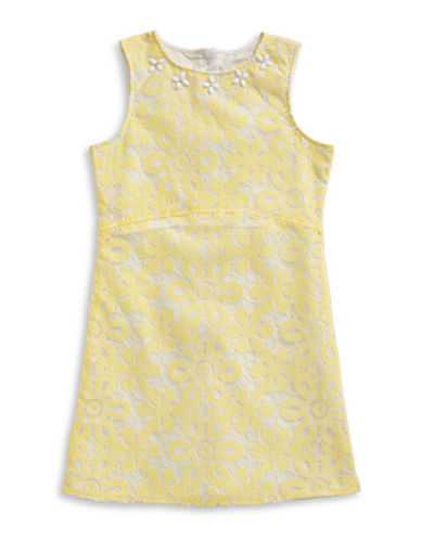 4ever Free Embellished Two-Tone Lace Dress-YELLOW-7