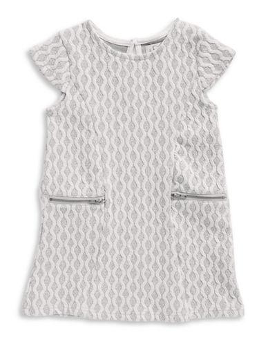 4ever Free Textured Knit Zip-Trim Dress-GREY-3