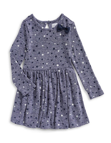 4ever Free Hacci Knit Starry Flare Dress-NAVY-4