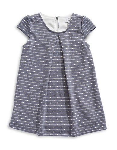 4ever Free Dot and Stripe Swing Dress-NAVY/WHITE-6X