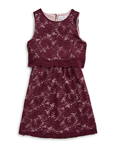 4ever Free Sleeveless Lace Dress-BURGUNDY-14