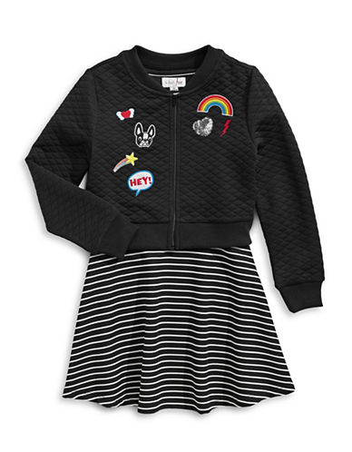 4ever Free Two-Piece Dress and Bomber Set-BLACK-12