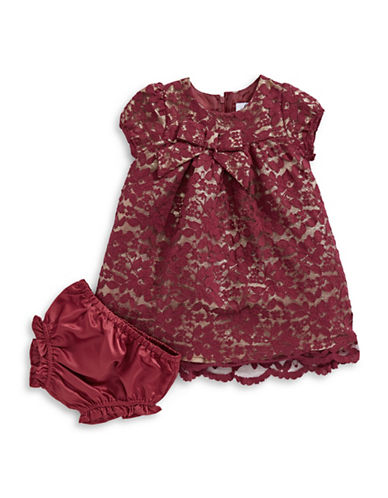 4ever Free Scallop Lace Shift Dress-RED-12 Months