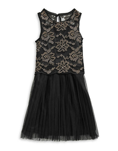 4ever Free Sleeveless Lace Dress-BLACK-14