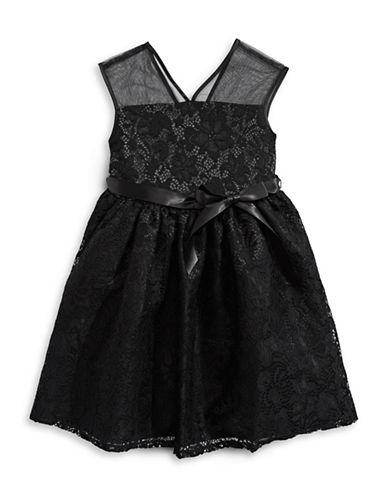 4ever Free Lace Mesh Ribbon Dress-BLACK-16