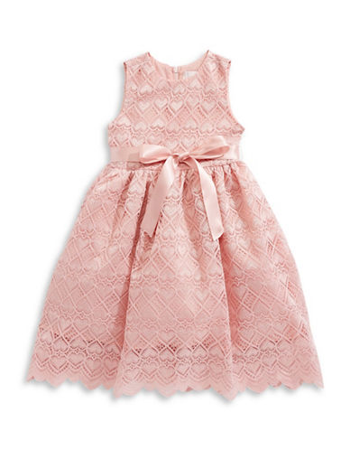 4ever Free Heart Corded Lace Dress-PINK-4