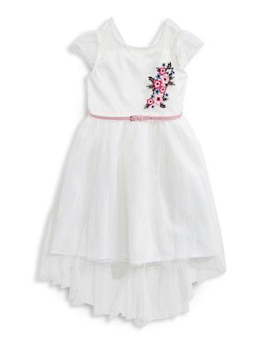 4ever Free Cap-Sleeve Floral Dress-WHITE-16