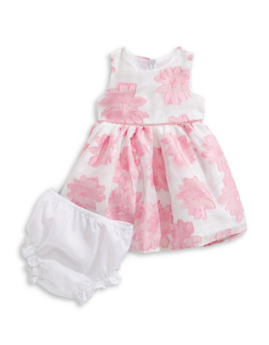 4ever Free Two-Piece Embroidered Burnout Dress Set-PINK/WHITE-18 Months