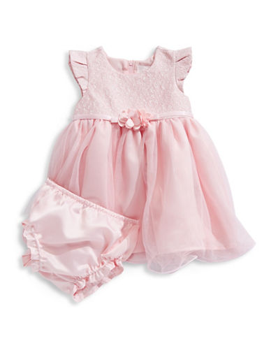4ever Free Lace Dress and Bloomers Set-PINK-12 Months