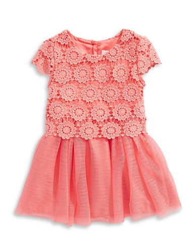 4ever Free Lace and Mesh Contrast Dress-SHELL PINK-5