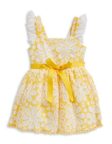 4ever Free Floral Mesh Dress-YELLOW-6X