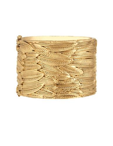 House Of Harlow 1960 Sacred Leaf Hinge Bracelet-GOLD-One Size