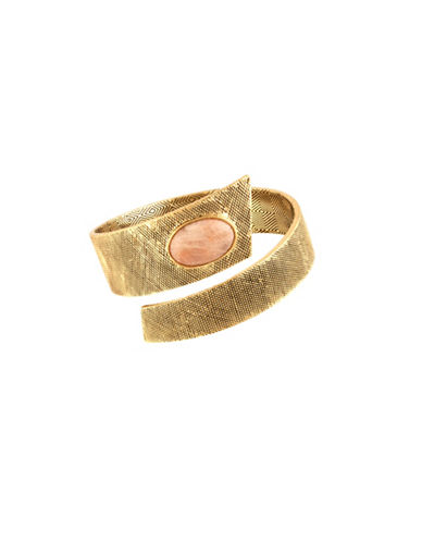 House Of Harlow 1960 Tanta Crosshatch Silk Stone Bangle-PINK-One Size