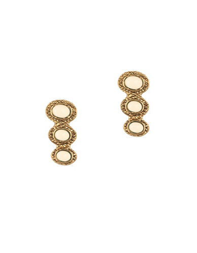 House Of Harlow 1960 Tanta Crosshatch Crawler Earrings-WHITE-One Size