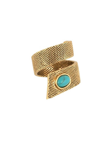 House Of Harlow 1960 Tanta Crosshatch Ring-BLUE-7