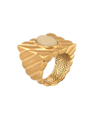 House Of Harlow 1960 Ribbed Valda Cocktail Ring-IVORY-7