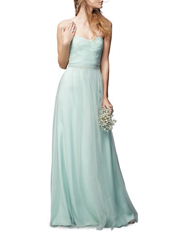 Monique Lhuillier Bridesmaids Strapless Tulle Gown-SEAFOAM-4
