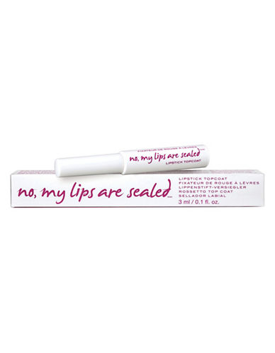 Know Cosmetics No, My Lips Are Sealed Lipstick Topcoat-NO COLOUR-One Size