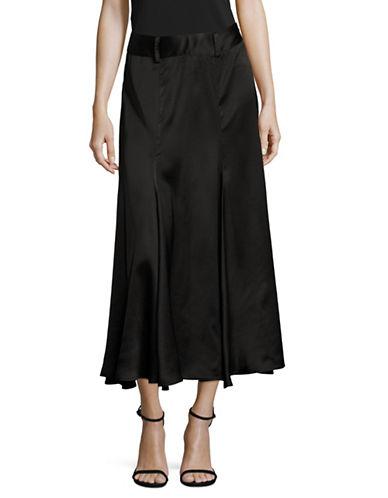 Beaufille Midi Flared Skirt-BLACK-4
