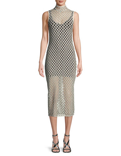 Beaufille Norma Mesh Dress-WHITE-Small