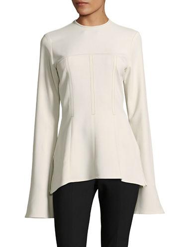 Beaufille Long Bell Sleeve Blouse-WHITE-4