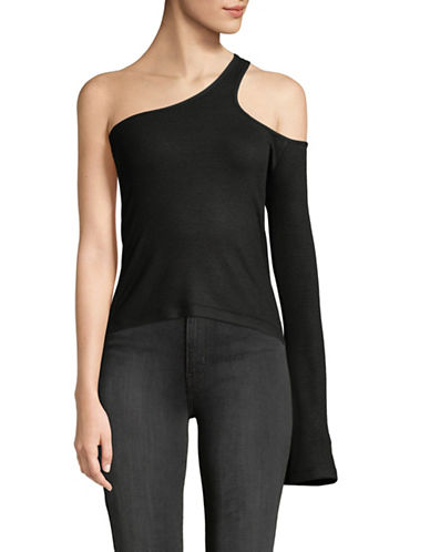 Beaufille Freya One-Shoulder Top-BLACK-Large