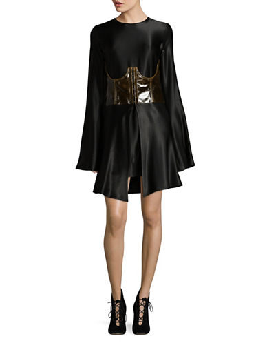 Beaufille Gemini Bell Sleeve Mini Dress-BLACK-4