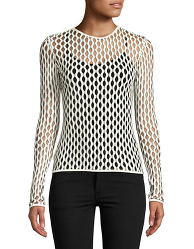 Beaufille Florin Mesh Top-WHITE-Small
