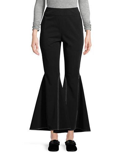 Beaufille Aldra Crop Flare Trousers-BLACK-6