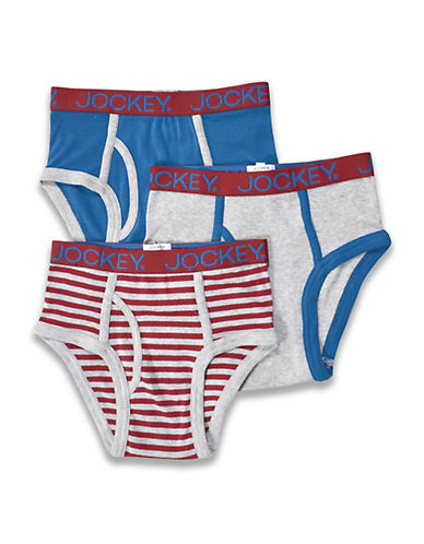 Jockey Boys 8 to 20 Pack of Three Assorted Briefs-ASSORTED-8-10
