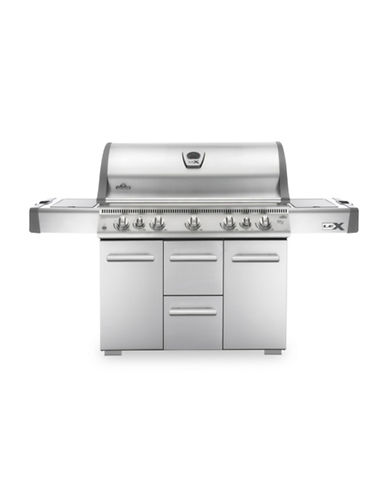 Napoleon Lex 730 Stainless Steel Propane Gas Grill-STAINLESS STEEL-One Size