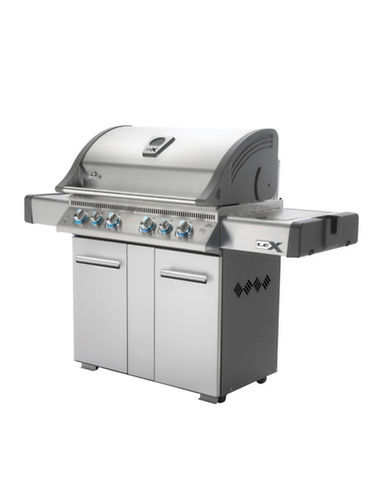 Napoleon Lex 605 Stainless Steel Propane Gas Grill with Cover-STAINLESS STEEL-One Size