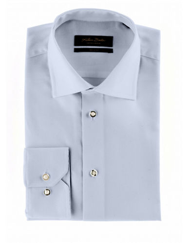 Klauss Boehler Dry and Fly Dress shirt with Berlin spread collar-BLUE-14.5