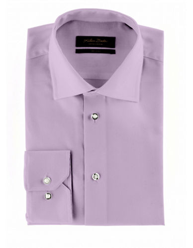 Klauss Boehler Dry and Fly Dress shirt with Berlin spread collar-PURPLE-15