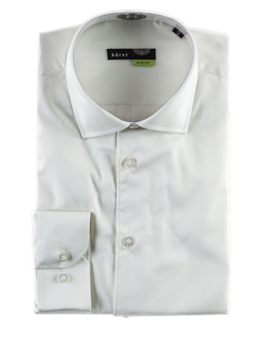 Horst Slim Fit Easy Care Shirt-NATURAL-18.5