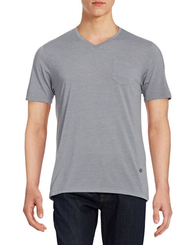 Horst Soft Marled T-Shirt-GREY-Large