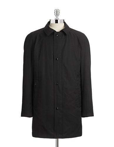 Horst Mackintosh Zip-Up Coat-BLACK-Small