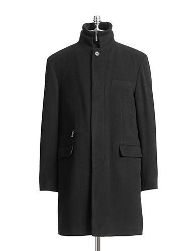 Horst Textured Wool-Blend Gilet Coat-BLACK-42