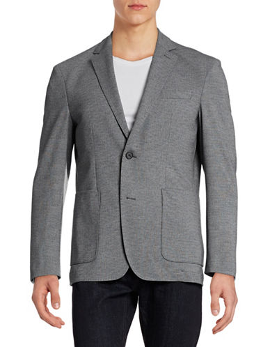 Horst Marled Two-Button Sports Jacket-GREY-52