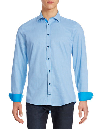 Horst Slim-Fit Print Sport Shirt-LIGHT BLUE-15