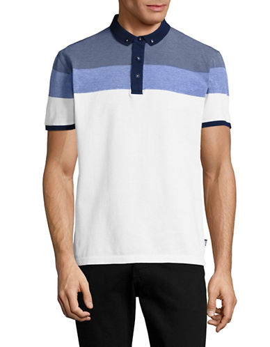Horst Tonal Stripe Polo-BLUE-Large