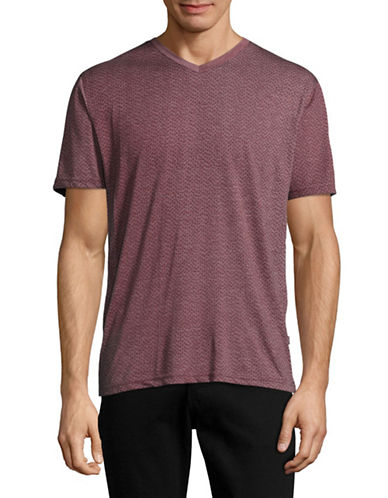 Horst V-Neck Pocket T-Shirt-RED-Small