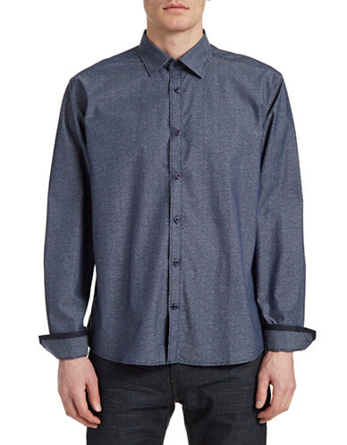 Horst Printed Sport Shirt-NAVY-X-Large