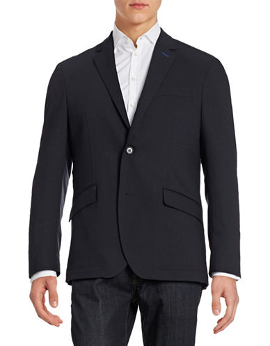 Horst Solid Textured Sports Jacket-BLUE-52