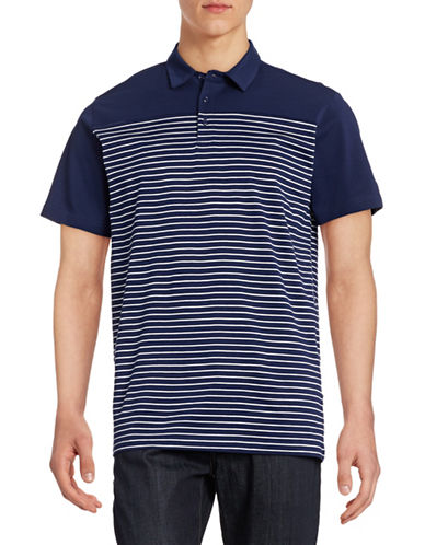 Horst Stripe Blocked Polo-BLUE-Medium