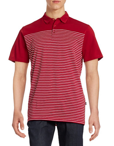 Horst Stripe Blocked Polo-RED-Large